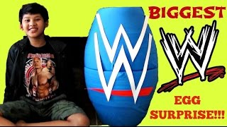 getlinkyoutube.com-WORLD'S BIGGEST WWE (World Wrestling Entertainment) TOYS EGG SURPRISE / John Cena, Undertaker / TUYC