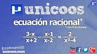 Imagen en miniatura para Ecuacion racional con fracciones 02