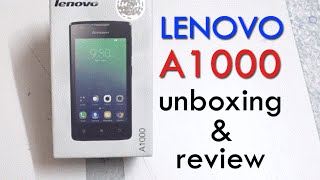 Lenovo A1000 Unboxing & Hands-on Review Best 3G Smartphone Under 4000