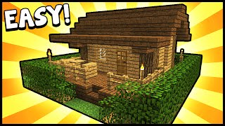getlinkyoutube.com-Small Survival Starter House! - Minecraft Tutorial