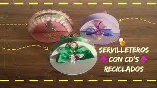 getlinkyoutube.com-Servilleteros con CD's Reciclados