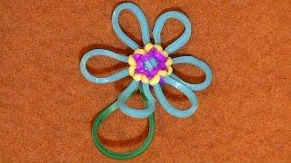 getlinkyoutube.com-【レインボールーム】【083】花の作り方04 モンスターテイルで きれいなブレスレットの作り方