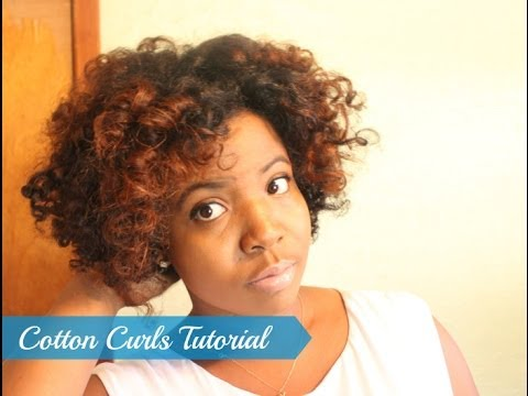 Cotton Curls  | Natural Hair Roller Set Tutorial