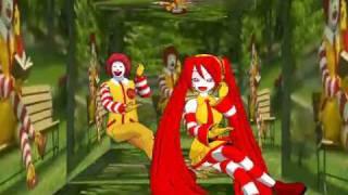 getlinkyoutube.com-Miku Hatsune & Ronald McDonald Insanity [MMD]