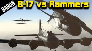 getlinkyoutube.com-B-17s vs Rammers!  War Thunder w/ Fans!