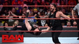 getlinkyoutube.com-Roman Reigns vs. Kevin Owens: Raw, Nov. 28, 2016