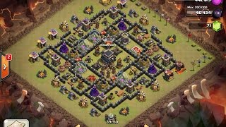Clash Of Clans TH9 BEST War Base 4 Mortars Speed Build