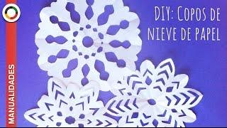 getlinkyoutube.com-Cómo hacer copos de nieve de papel  ❅ ❄ ❆ MUY FÁCIL  ❅ ❄ ❆