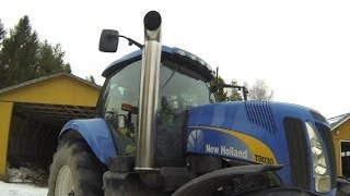 getlinkyoutube.com-New Holland T8030 Open Pipe Part 2/3