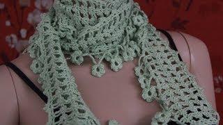 getlinkyoutube.com-Crochet Scarf Tutorial Part 1 of 4 (Pattern #4)