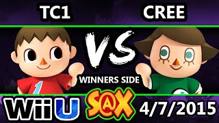 getlinkyoutube.com-S@X - TC1 (Villager) Vs. Cree (Villager) SSB4 Tournament - Smash Wii U - Smash 4