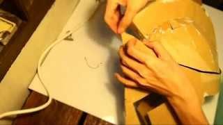 getlinkyoutube.com-#46: 300 King Leonidas Helmet DIY part 2: Gluing Cardboard (with template)