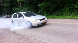 Best Golf Burnout ever!!!!