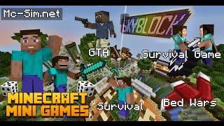 getlinkyoutube.com-Minecraft เซิฟ Sim : แนะนำเซิฟเวอร์มินิเกมส์!! [1.7-1.7.10] - Rivth28