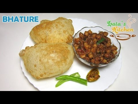 Chole Bhature Recipe - Bhatura Recipe Video in Hindi with English Subtitles by Lata Jain
