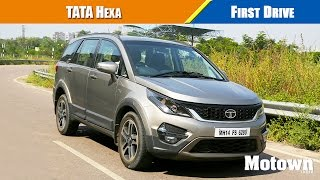 getlinkyoutube.com-Tata Hexa | First Drive | Motown India