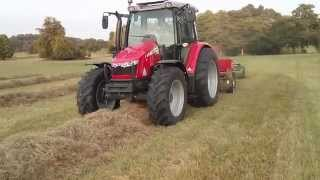 getlinkyoutube.com-Massey Ferguson 5610 and 1840 baling