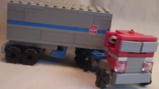 getlinkyoutube.com-Lego Transformers #19 - G1 Optimus Prime