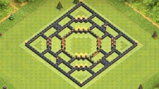 getlinkyoutube.com-Clash of Clans - NEW TH9 Troll/Defense/Trophy Base Build