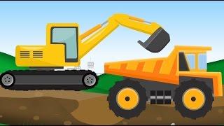 getlinkyoutube.com-Monster Truck and construction machine. Maszyny budowlane Bajki