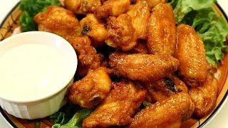 getlinkyoutube.com-Crispy Chicken Wings - Baked Hot Wings w/ Buffalo Wing Sauce