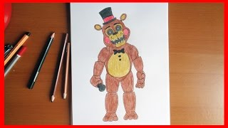 getlinkyoutube.com-How to draw Toy Freddy  Five Nights at Freddy's characters