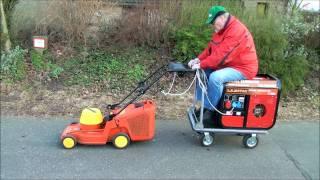getlinkyoutube.com-Diesel-Elektrischer Rasenmäher (Seniorenmobil)