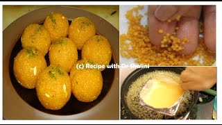 Motichoor Ladoo | Motichoor Ladoo recipe | with DIY utensils | Motichur Laddu Recipe