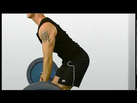 Barbell Row Exercising for Basketball players