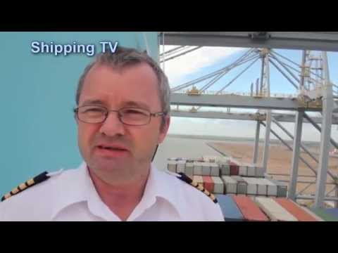 Click to view video Aboard Edith Maersk - and meeting her Captain