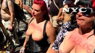 getlinkyoutube.com-Go Topless Day march in New York City