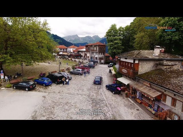 Metsovo between two seasons drone flight