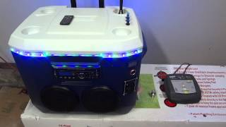 getlinkyoutube.com-Cooler Radio w/ LEDs, Speakers, Voltmeter, and more