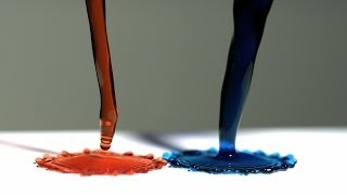 getlinkyoutube.com-Super Hydrophobic Surface and Magnetic Liquid - The Slow Mo Guys