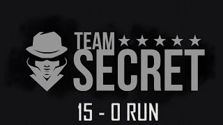 Team Secret's 15 - 0 Run Highlights at DAC