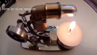 "getlinkyoutube.com-High Speed alternative Stirling Engine using ""Free Energy"" from candle heat  | WasabySajado"
