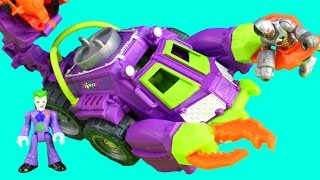 getlinkyoutube.com-Imaginext Joker & Harley Quinn Battle Vehicle Captures Cyborg From Batcave