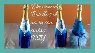 getlinkyoutube.com-Decoración botella novio  Decoration bottle boyfriend