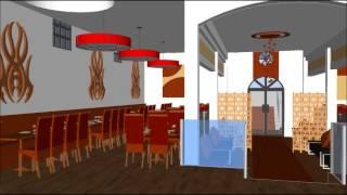 getlinkyoutube.com-3D Interior Design of wedding hall and buffet/restaurant