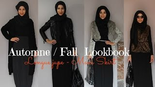 getlinkyoutube.com-Fall Lookbook | Hijab | Maxi skirt |