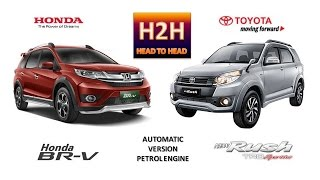 getlinkyoutube.com-Head2Head #46 Honda BR-V vs New Toyota Rush