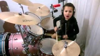 getlinkyoutube.com-Metallica - Enter Sandman - Eduarda Henklein (5 anos) Drum cover