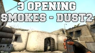 getlinkyoutube.com-CS:GO - 3 Opening-Smokes für Dust2