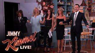 "getlinkyoutube.com-Jennifer Aniston, Courteney Cox, Lisa Kudrow and Jimmy Kimmel in ""Friends"""