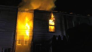 getlinkyoutube.com-4 alarm fire destroys row of homes in Allentown, PA
