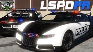 GTA V - LSPDFR #9 : Patrulha com Bugatti Veyron / LSPD Adder