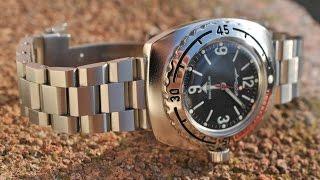 getlinkyoutube.com-Обзор часов Восток Амфибия 090660.