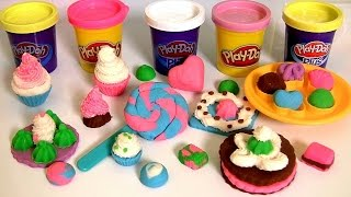 getlinkyoutube.com-Play Doh Colorful Candy Box Sweet Shoppe ❤ How to Make Lollipops Cookies Cupcakes by FunToys