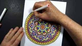 getlinkyoutube.com-Coloring Book Art : Mandala 8