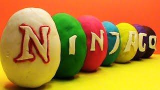 getlinkyoutube.com-Ninjago Play Doh surprise eggs sorpresa modela juguetes huevos